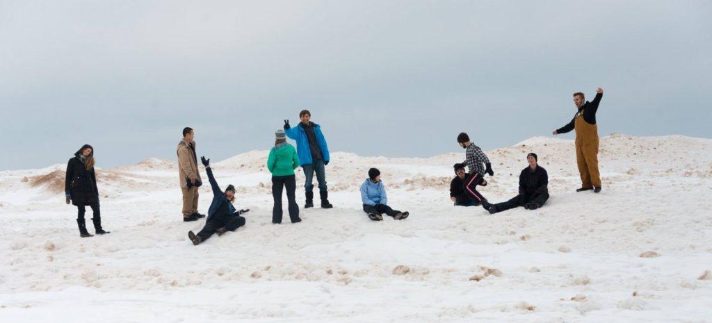 InterVarsity students in the winter